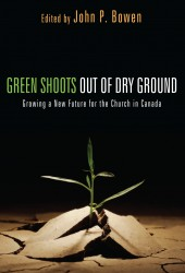 Green Shoots out of Dry Ground begin to grow